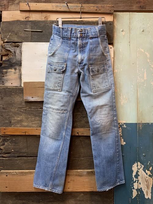 70's Levi's denim bush pants big E