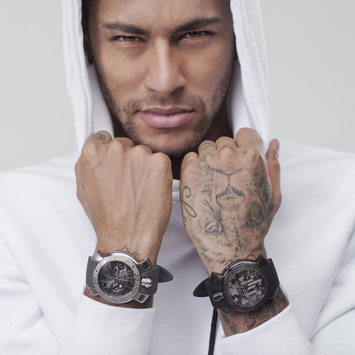 【GaGa MILANO】Chrono 48MM/8012.NJ.01 限定ネイマールモデル クロノグラフ スイスメイド腕時計