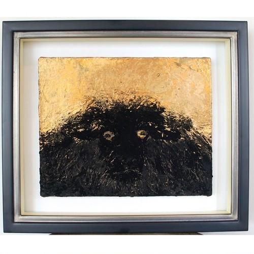 「けもの」 キャンバスにアクリル * 現代アート コンテンポラリーアート 絵画 額縁 内野隆文 takafumiuchino