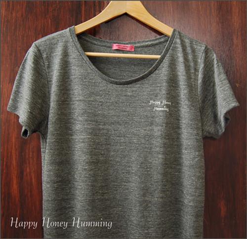 Tシャツ  グレー ワンポイントロゴt
