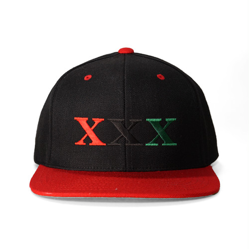 Stay Black Salute XXX 6PANEL SNAPBACK CAP (BLACK&RED)