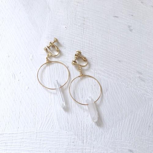 earring / クリスタルフープイヤリング オーロラ
