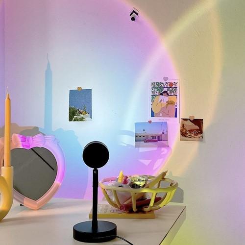 sunrise mood lamp 3colors / サンライズ ビーム サークル ルームライト ムードランプ レインボー 照明 韓国 インテリア 雑貨