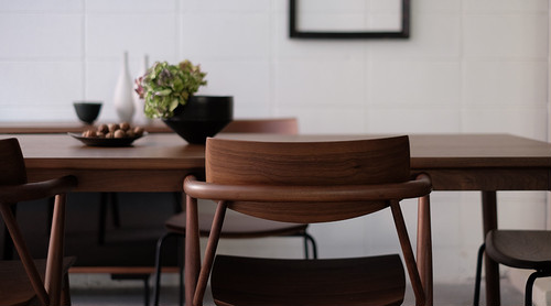 dual dining table wood(w1600) - walnut