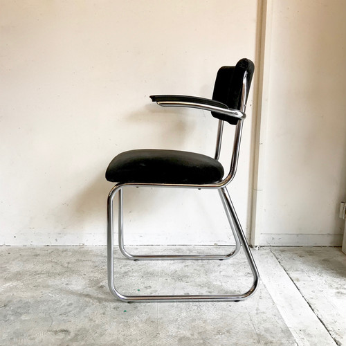 "GISPEN ""Model 212"" Vintage Arm Chair BLKコーデュロイ オランダ 1960's"