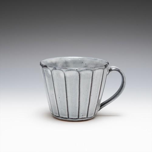 面取カフェオレカップ(グレー)