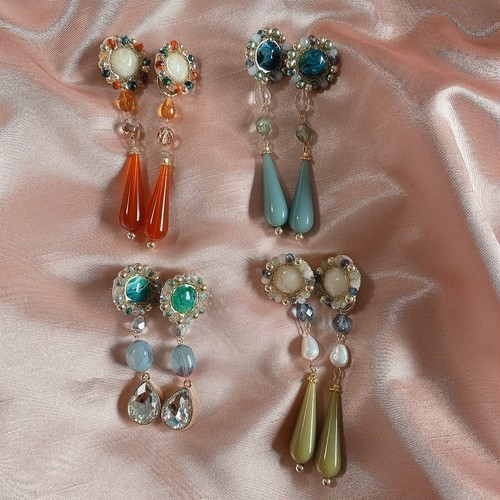 long vintage stone(orange・ blue・green・pistàcchio)