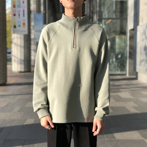 【ALLEGE】Half-zip sweat
