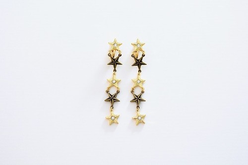 【S】エス イヤリング gold(S1842)