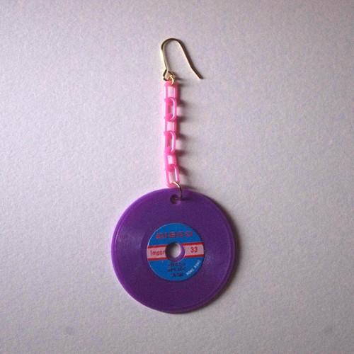 colorful record pierce(purple)