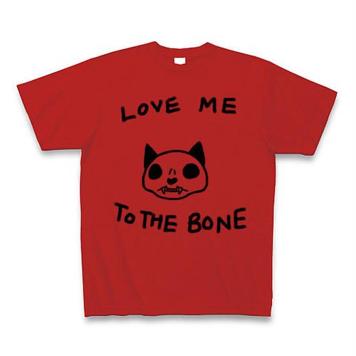 [送料込]ねこのもりオリジナル 骨まで愛してTシャツ クルーネック レッド