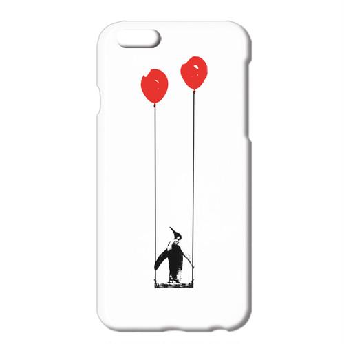 送料無料 [iPhone ケース]  ペンギンと風船とブランコ