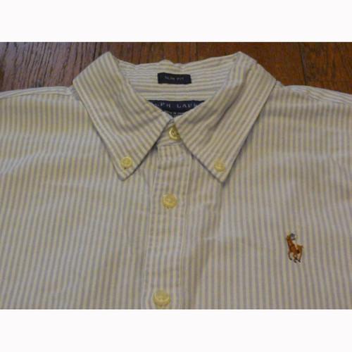 【送料無料】RALPH LAUREN の古着 レディース ボタンダウンシャツ SLIM FIT (10)