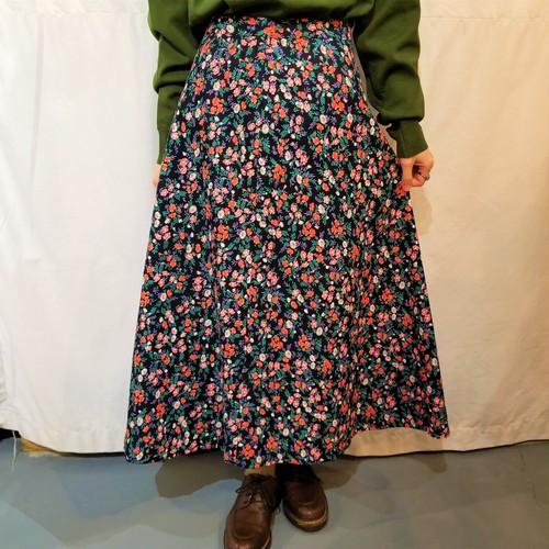 Flower pattern flare skirt [K-1451]
