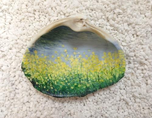 貝殻絵 (菜の花)