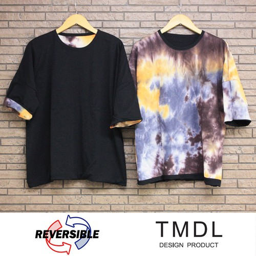 TMDL《無地✕タイダイ染リバーシブルルーズカットソー》2色★