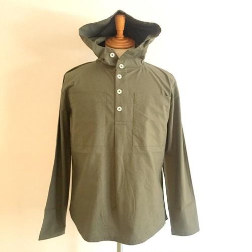 Cotton Cloth Anorak Parker Shirt Olive