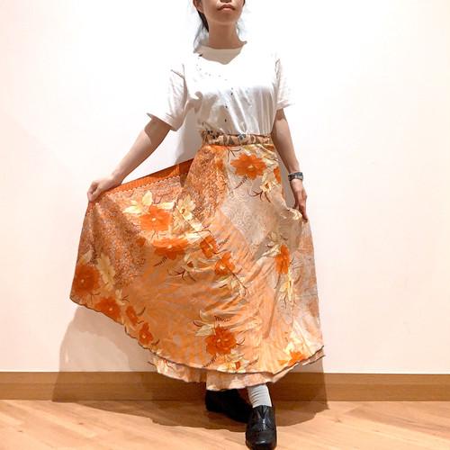 vdsl-086 ビンテージシルクサリー 巻きスカート【オータムフィーリング】