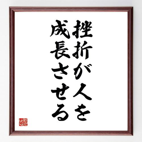 名言色紙『挫折が人を成長させる』額付き/受注後直筆/Z0116