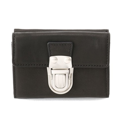 174AWA10 Leather trifold wallet 'cartable' 三つ折りウォレット