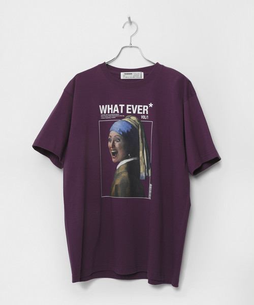WHAT EVER T-shirt [Purple]
