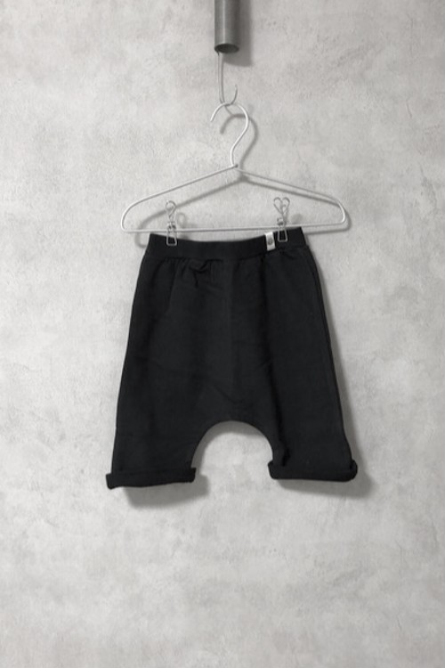 POPUPSHOP BAGGY SHORTS SOLID  /BLACK