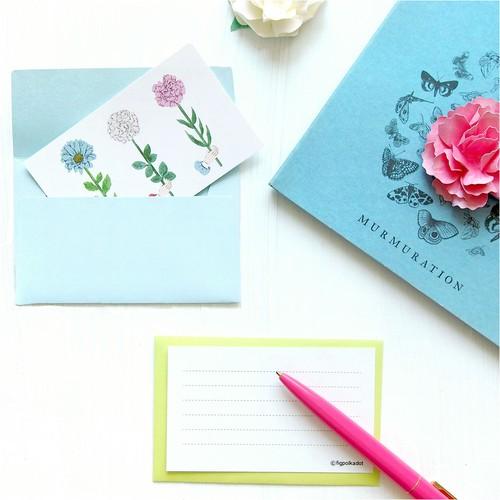 3つのお花のミニカード