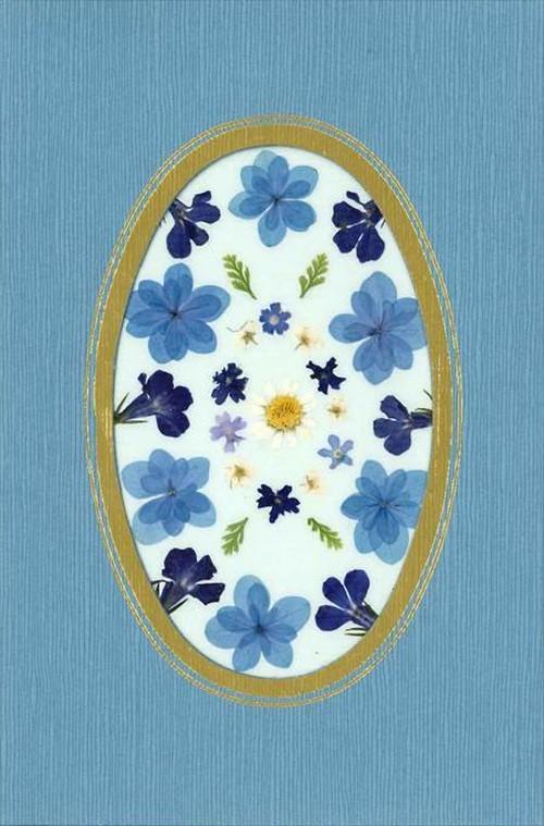 押し花メッセージカード