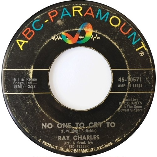Ray Charles ‎– No One To Cry To / A Tear Fell