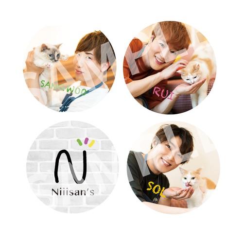 1st FANMEETING「Nyasan's」缶バッチ4個セット