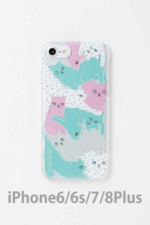 【iPhone 6/6s/7/8 Plus専用】アクリルケース CATS COLORFUL