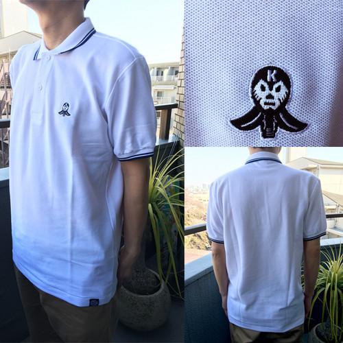 【場面を選ばず着られます!】LET'S KENDO‼刺繍ロゴ入りポロシャツ/ホワイト