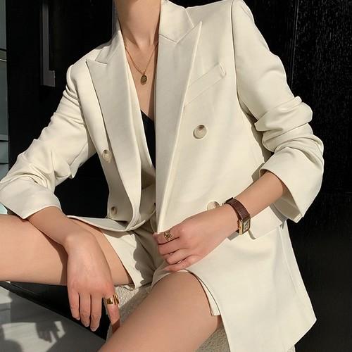 【3点セット】エレガントスーツジャケット+Vベスト+ショートパンツ ・1865