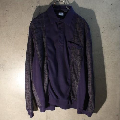 Long Sleeve Design Rib Polo Shirt