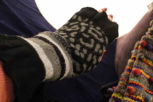 指無し手袋 ブラック