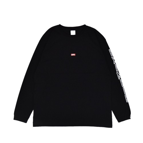 EMBROIDERY SMALL LOGO L/S TEE / BLACKxRED