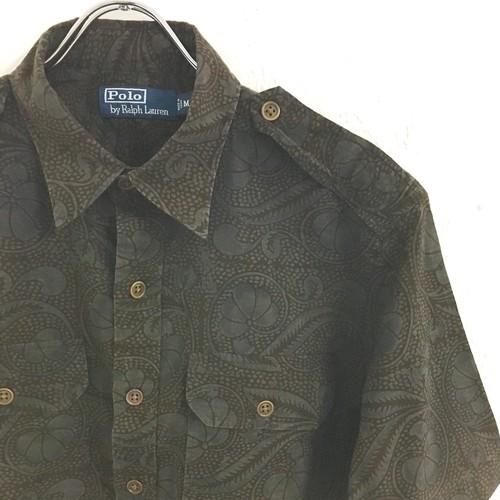 Polo by Ralph Lauren : s/s botanical pattern safari shirt (used)