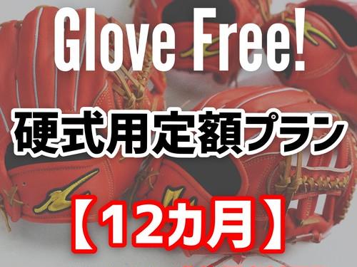 Glove Free! 【硬式用定額プラン12か月】