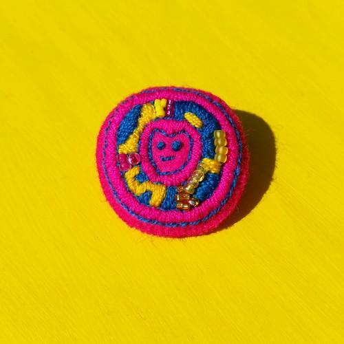 元気な歯のゆめ ブローチ ピンク