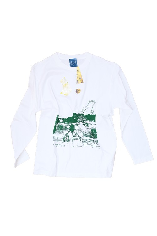 NO.459 吉祥寺井の頭公園のロングTシャツ【東京】【 Mサイズ】