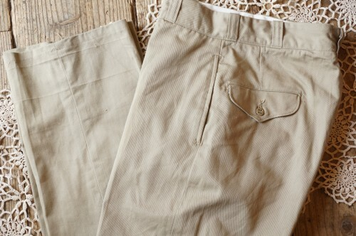N.O.S. 70's U.S.Military khaki Trousers #B