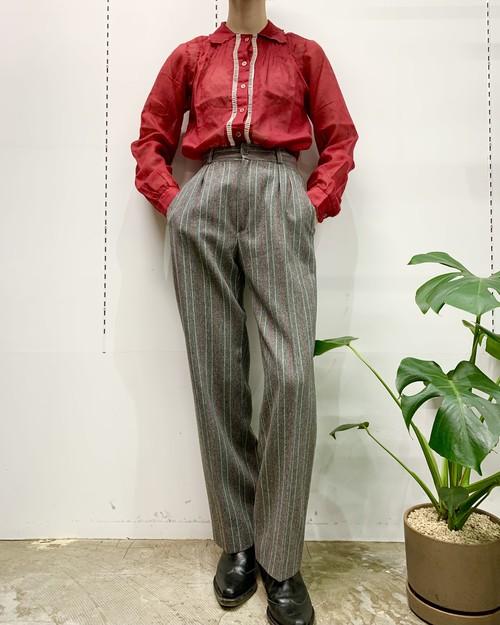 1970s see-through design blouse 【38】