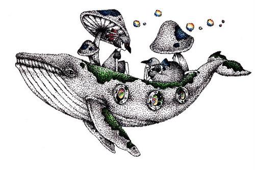 一点物原画*菌床クジラとバクとエリー