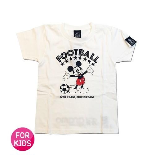 Mickey Mouse コラボ Tシャツ gramo「ONE DREAM」(ホワイト/T-022) ※110~150cmサイズ