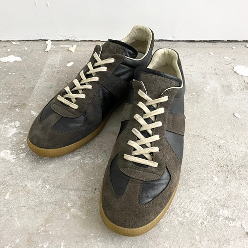 MAISON MARGIELA 22-REPLICA- sneakers GERMAN TRAINER black×brown