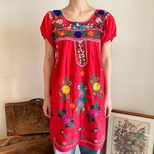 メキシコ 刺繍 ワンピース