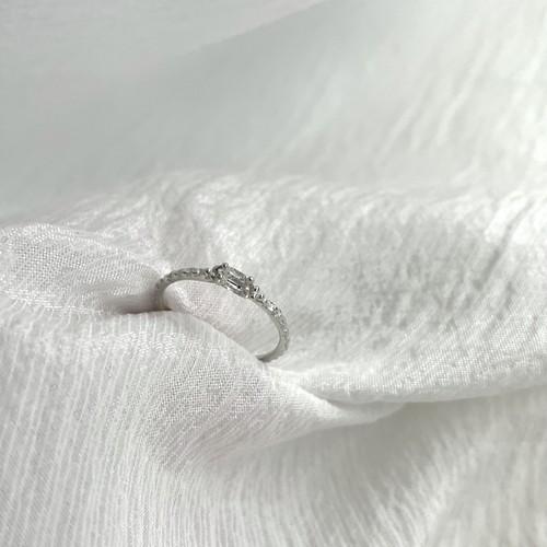 Line ring sv925  Herkimer diamond