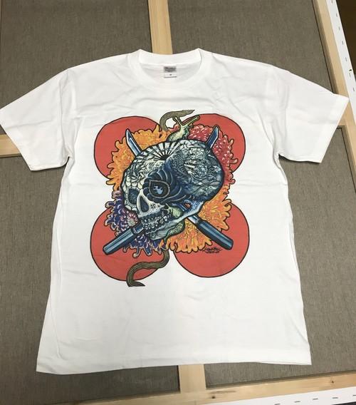 """白Tシャツ"""" 吽 〜Unn~ """"赤玉"""