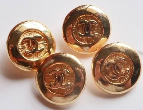 CHANEL VINTAGE(シャネル ヴィンテージ)COCOマーク デザイン  ボタン ゴールド 591-3