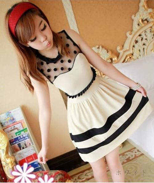 ワンピース 即納 ファッション 人気ワンピ ブラック ホワイト2色 ff-fa2-289